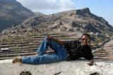 Our guide Sulieman posing atop Al-Khutayb