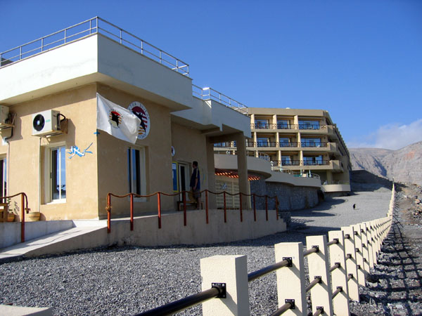 The dive center is part of the Golden Tulip Hotel