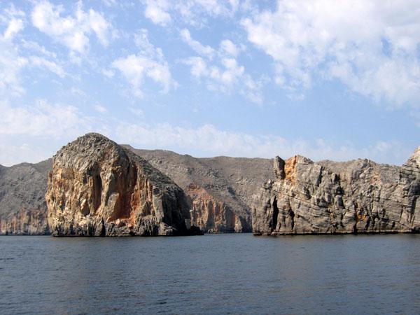 The Musandam Peninsula mainland not far from Kumzar, Oman