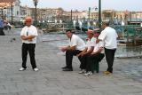 Gondoliers Grand Canal Venezia