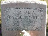 Bennett, Cleo Alta McVeigh Section 6 Row 1