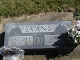 Evans, Ernestine E & Loren Section 6 Row 12