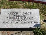 Falor, Archie L. Section 6 Row 3