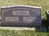 Sabin, George S. Agnes M. Section 6 Row 3