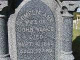 Vance, Cornelia Ann (Wife of John Section 2 Row 9