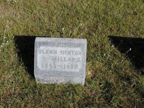 Millard, Glenn Milton 1869-1897 Section 2 row 14