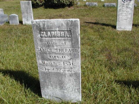 Shepard, Clarissa (Wife of James) Section 2 Row 4