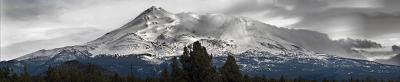 Panorama of Mount Shasta