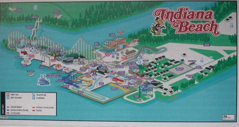 Indiana Beach map photo - Tina Nelson photos at pbase.com