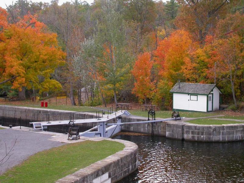 Upper set of locks at Jones Falls
