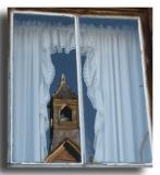 Church Steeple in Window Relfection, Bodie