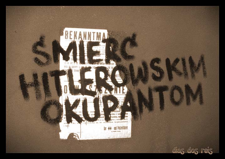 Death to Hitlers Ocupation Polish Graffiti