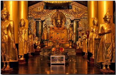 A temple at the Shwedagon Pagoda