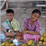 Young Smiles - Hledan Market, Yangon