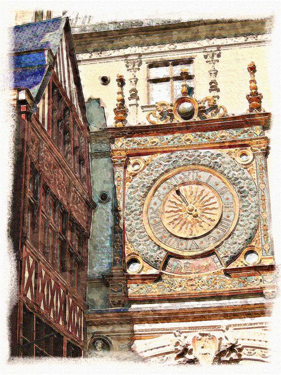 XIII Century Clock in Rouen