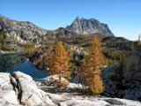 Larches, Inspiration Lake and Prusik Peak