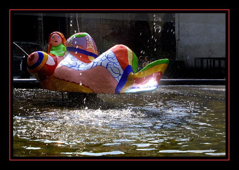 Niki de St Phalle fountain