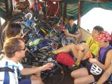 14 persons + bicycles - i think we overloaded the boat
