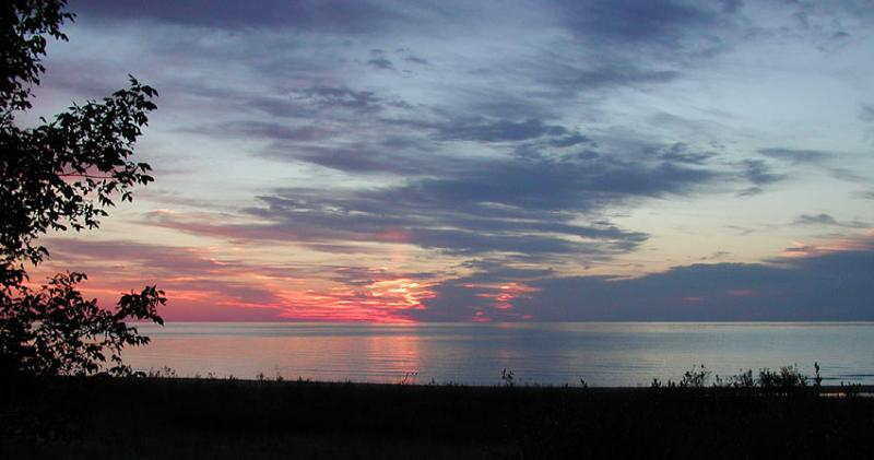 Sunrise over Lake Huron