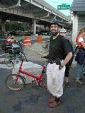 Smiling Bike Friday driver