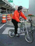 A passing folder rider on his Dahon Helios thinks that he just entered The Twilight Zone