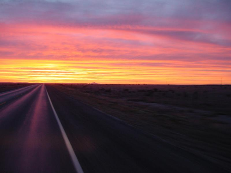 Texas Sunset at 55 MPH