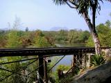 View of the bridge and River Kwai from the bomb crater