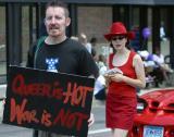 Queer is hot; War is not