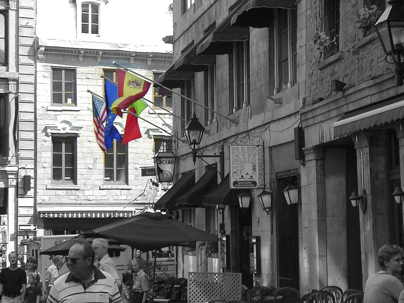 Old Quebec w flags