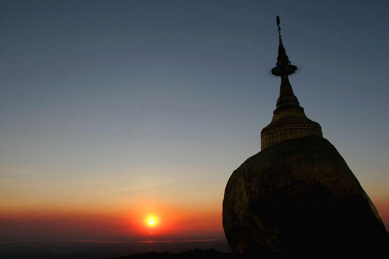Sunset viewed from Kyaiktiyo