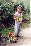 La Jalca girl selling orchids