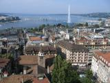 view over Geneva from the North Tower of St Pierre Cathedral