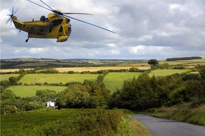 Chopper over Porlock (2322)