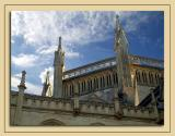 Roof and sky, Chapter House, Wells Cathedral