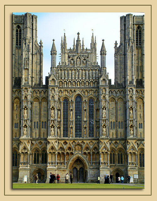 Right in the middle, Wells Cathedral