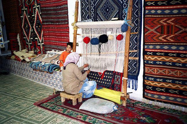 Inside carpet shop