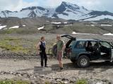 loftur drove us up... here he is with snæfell and his ride