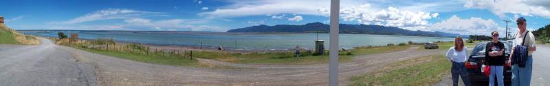 Panorama at Lake Ferry