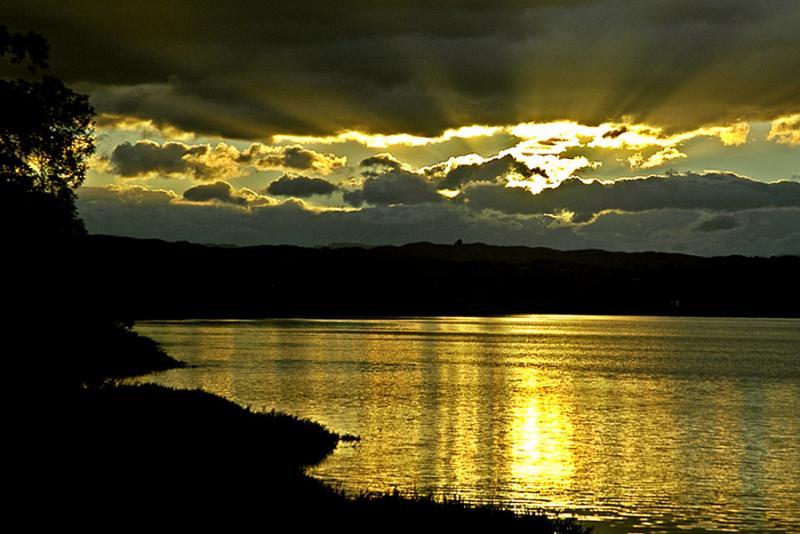 25 March 05 - Sunset Over  Ahuriri Lagoon