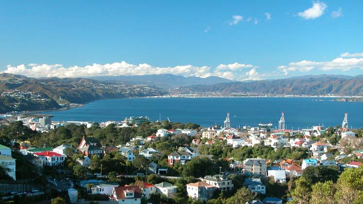 Wellington Harbour from Kelburn