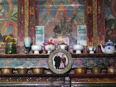 Private shrine, Lhasa, Tibet, 2004