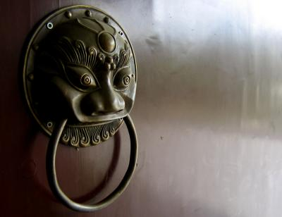 Door knocker, Chengdu, China, 2004