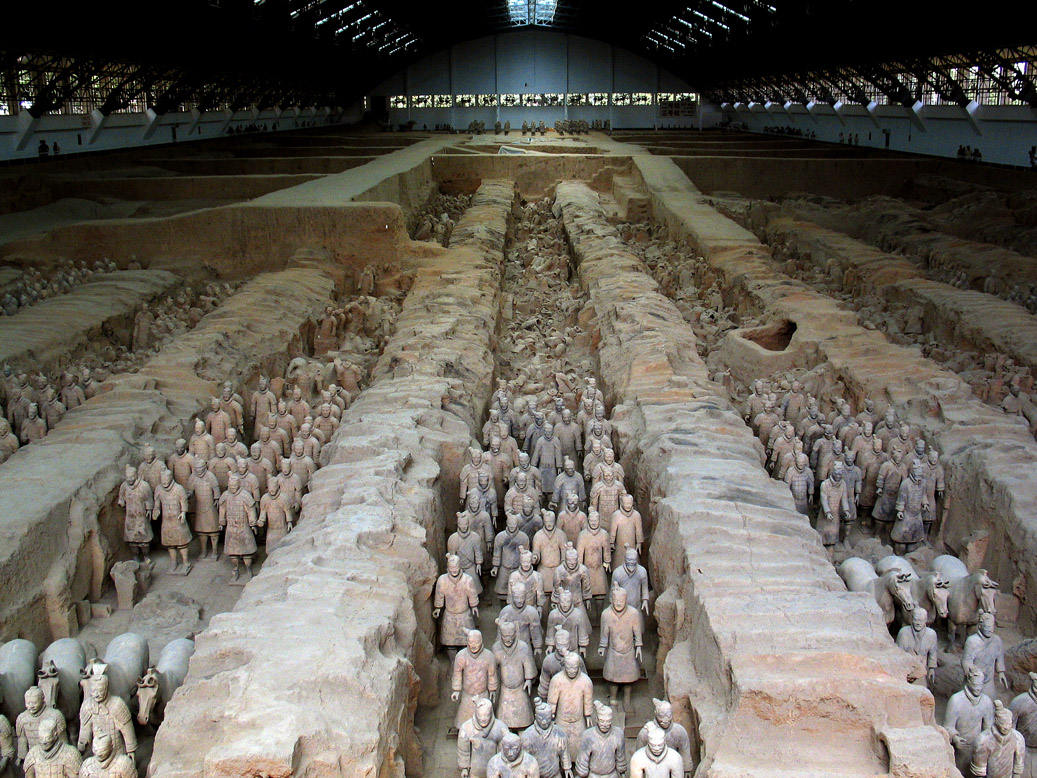 Underground army of terracotta warriors, Xian, China, 2004