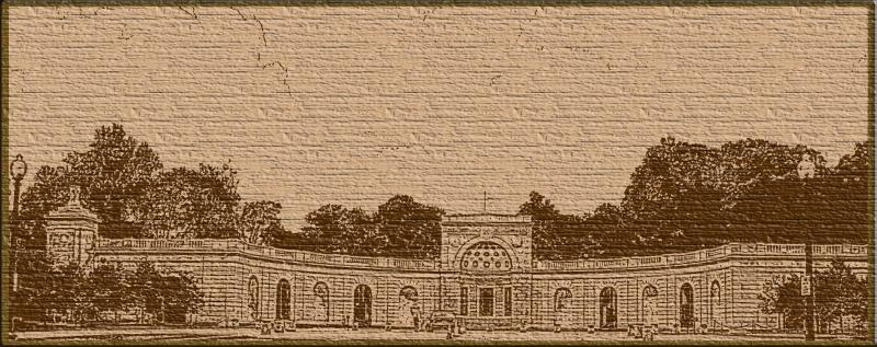 Arlington National Cemetery Entrance - Sketch - toned