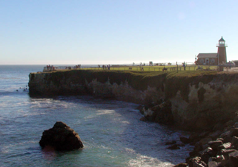 The point at Steamer Lane