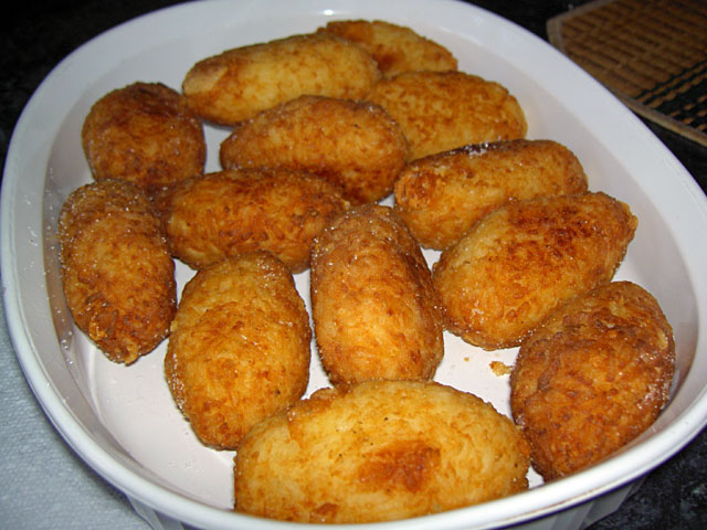 italian style fried rice and cheese cakes (info)