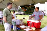 Victory Brewing Rep Christian Parker talks with homebrewer Tom Cannon