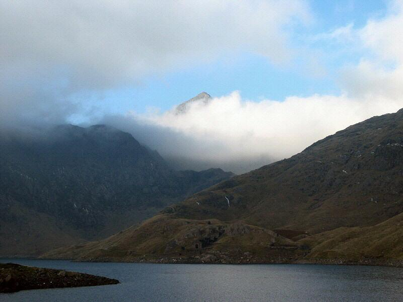 glimpse of Snowdon
