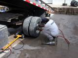 Changing tires on the GMC 6500 requires serious tools