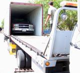 Loading a Chevy 1500 into an overseas container